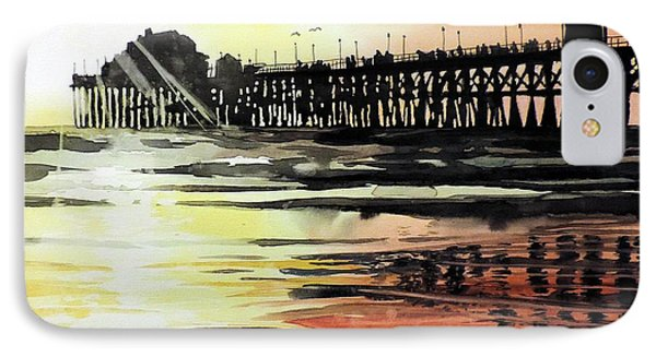 Sunset Oceanside Pier IPhone Case by Tom Riggs