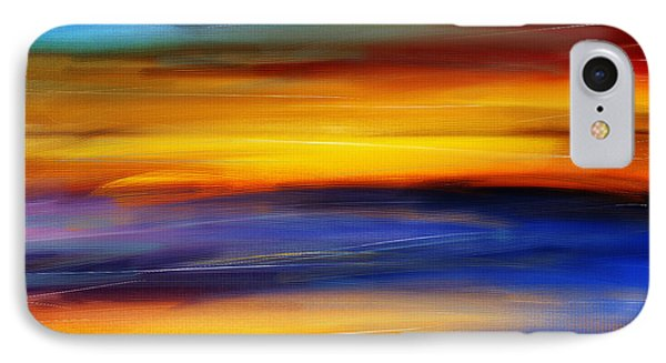 Sunset Of Light IPhone Case by Lourry Legarde