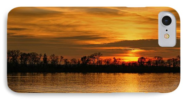 Sunset - Ohio River IPhone Case by Sandy Keeton