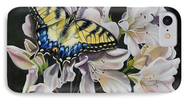 IPhone Case featuring the painting Sunset On A Swallowtail by Phyllis Beiser