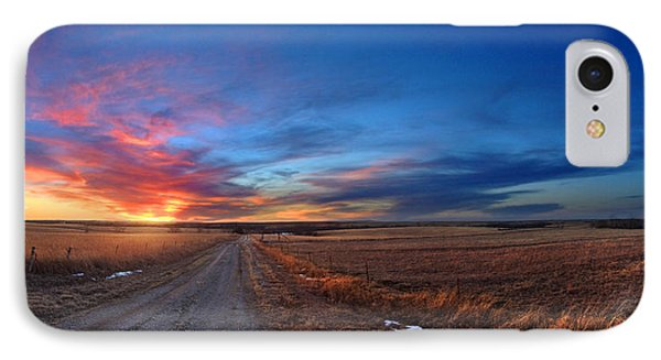 Sunset On Aa Road IPhone Case