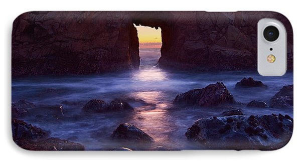 Sunset On Arch Rock In Pfeiffer Beach Big Sur In California. Phone Case by Jamie Pham