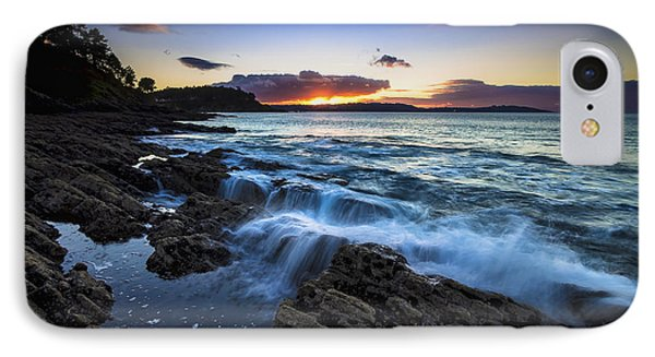 IPhone Case featuring the photograph Sunset On Ber Beach Galicia Spain by Pablo Avanzini