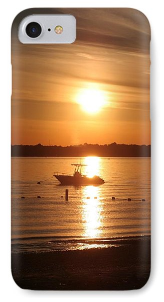 IPhone Case featuring the photograph Sunset On Boat by Karen Silvestri