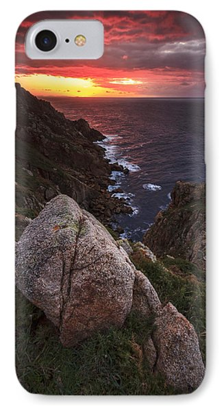 IPhone Case featuring the photograph Sunset On Cape Prior Galicia Spain by Pablo Avanzini