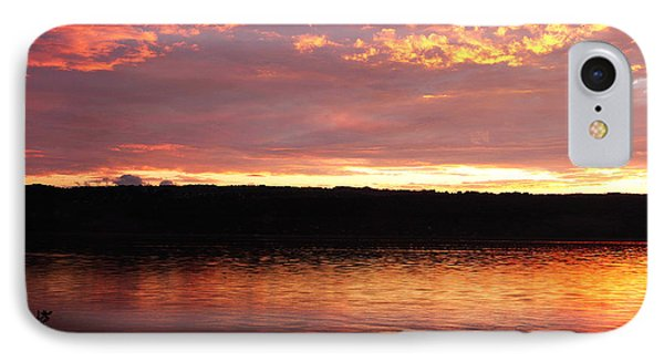 Sunset On Cayuga Lake Cornell Sailing Center Ithaca New York II IPhone Case by Paul Ge