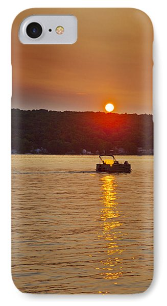 Boating Into The Sunset IPhone Case by Richard Engelbrecht