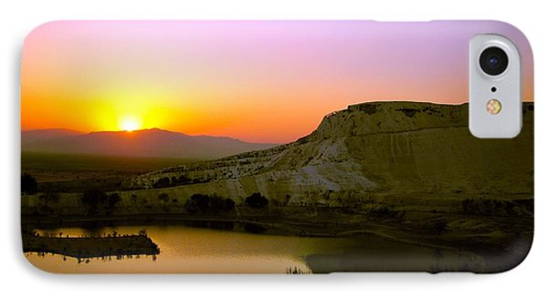 IPhone Case featuring the photograph Sunset On Cotton Castles by Zafer Gurel
