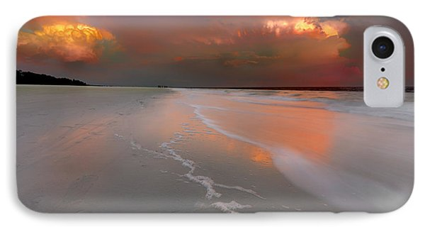 Sunset On Hilton Head Island IPhone Case by Peter Lakomy