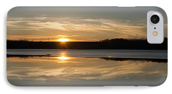 Sunset On Ice IPhone Case by Diana Boyd