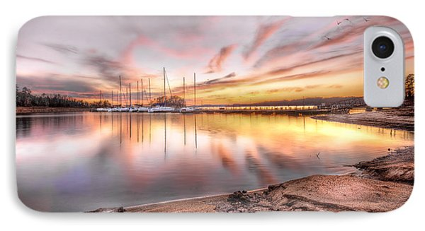 Sunset On Lake Hartwell IPhone Case by Brent Craft