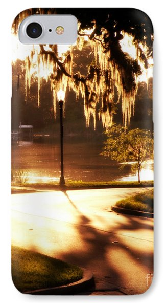 Sunset On Lake Mizell IPhone Case by Valerie Reeves