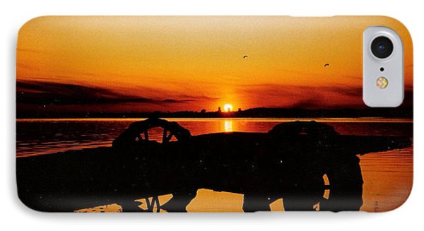 Sunset On Lake Wahtoponek IPhone Case by Larry Trupp