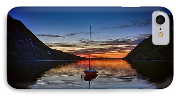 Sunset On Lake Willoughby IPhone Case by John Haldane