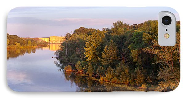 Sunset On Lake Wissota Dam IPhone Case by Larry Capra