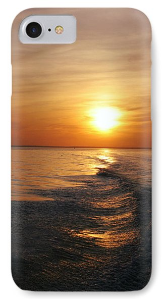 IPhone Case featuring the photograph Sunset On Long Island Sound by Karen Silvestri