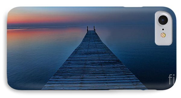 Sunset On Pamlico Sound Nc IPhone Case by Laurinda Bowling