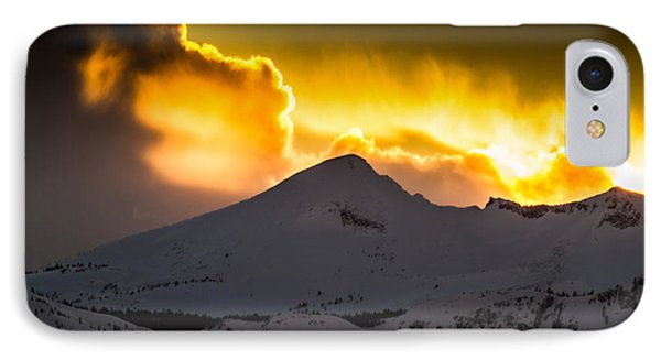 Sunset On Pyramid Phone Case by Mitch Shindelbower