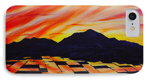 IPhone Case featuring the painting Sunset On Rice Fields by Michele Myers
