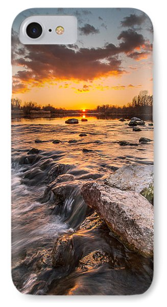 Sunset On River IPhone Case by Davorin Mance