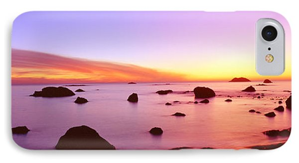 Sunset On Rocky Pacific Shoreline IPhone Case