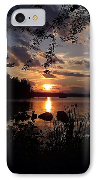 Sunset On Sebago 2 IPhone Case by Donnie Freeman