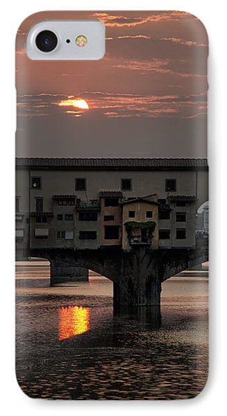 Sunset On The Arno River Phone Case by Melany Sarafis