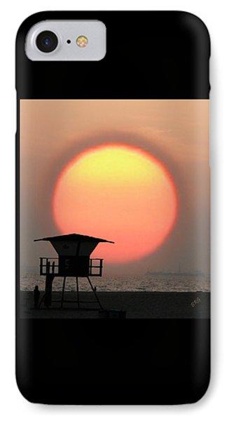 Sunset On The Beach Phone Case by Ben and Raisa Gertsberg