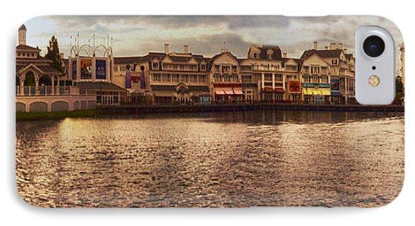 Sunset On The Boardwalk Walt Disney World IPhone Case by Thomas Woolworth