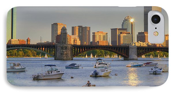 Sunset On The Charles IPhone Case by Joann Vitali