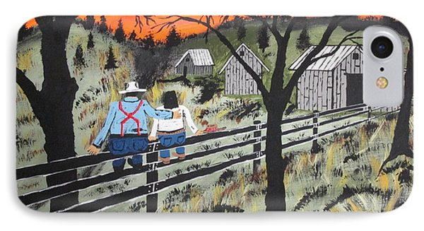 Sunset On The Fence IPhone Case by Jeffrey Koss