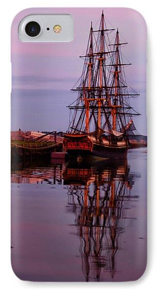 Sunset On The Friendship Of Salem Phone Case by Jeff Folger