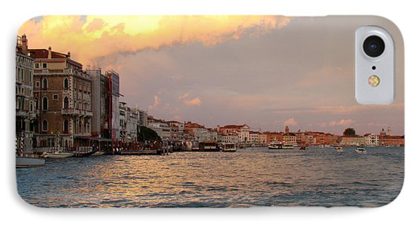 Sunset On The Grand Canal IPhone Case by Walter Fahmy