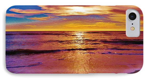 Sunset On The Gulf IPhone Case by Judy Via-Wolff