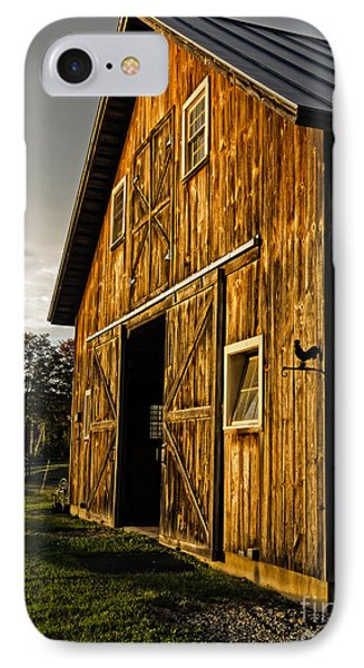 Sunset On The Horse Barn Phone Case by Edward Fielding