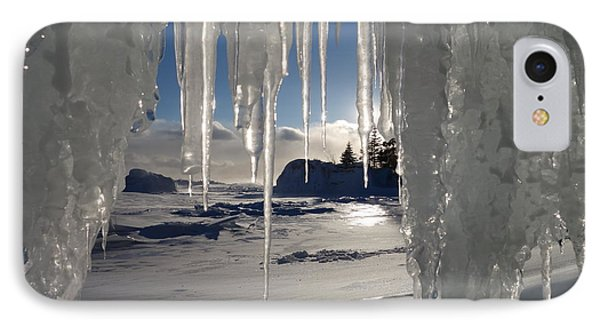 Sunset On The Icicles IPhone Case by Sandra Updyke
