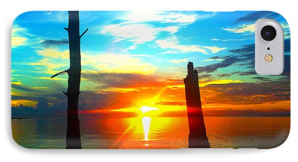 Sunset On The Island IPhone Case by Marty Gayler