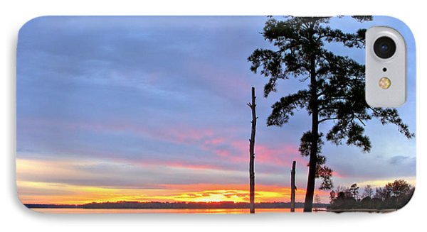 Sunset On The James River Phone Case by Olivier Le Queinec