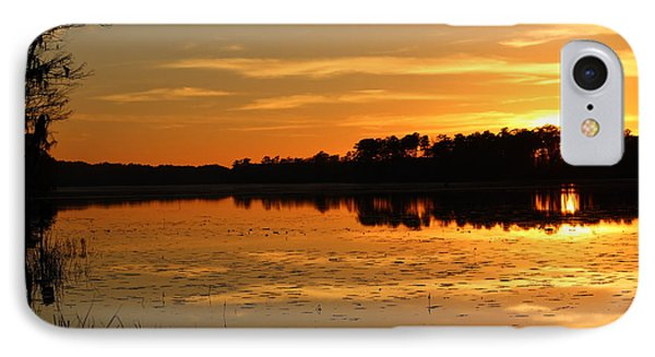 Sunset On The Lake Phone Case by Cynthia Guinn