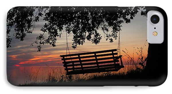Sunset On The Lake Phone Case by Heather Allen