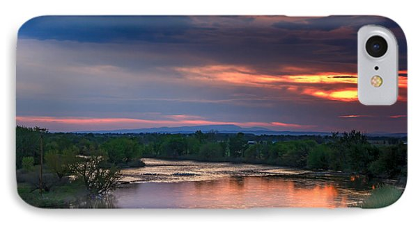 Sunset On The Payette  River Phone Case by Robert Bales
