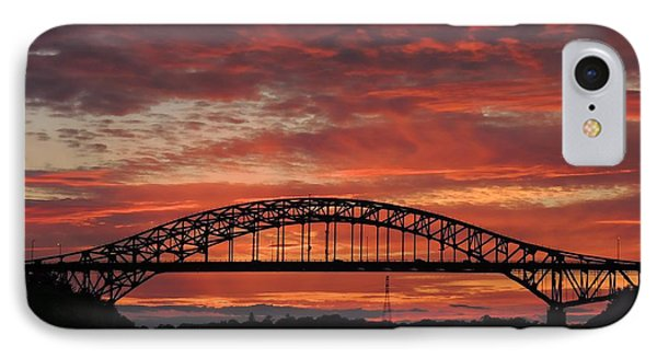 Sunset On The Piscataqua         IPhone Case by Marcia Lee Jones