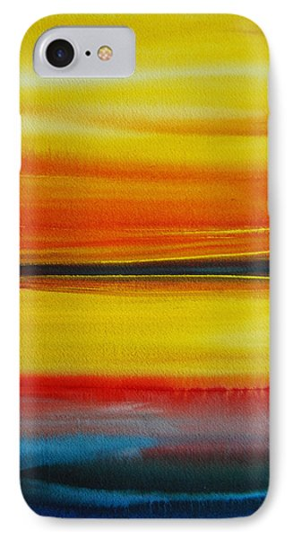 IPhone Case featuring the painting Sunset On The Puget Sound by Jani Freimann