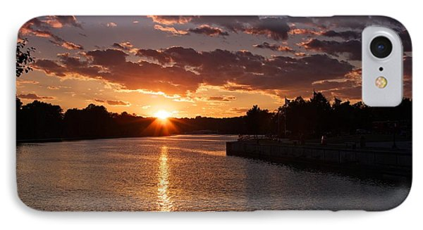 Sunset On The River IPhone Case by Dave Files