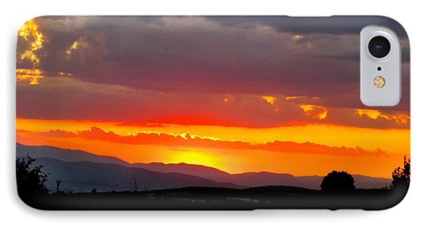 Sunset On The Road IPhone Case by Zafer Gurel