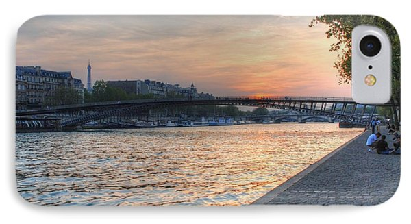 Sunset On The Seine IPhone Case by Jennifer Ancker