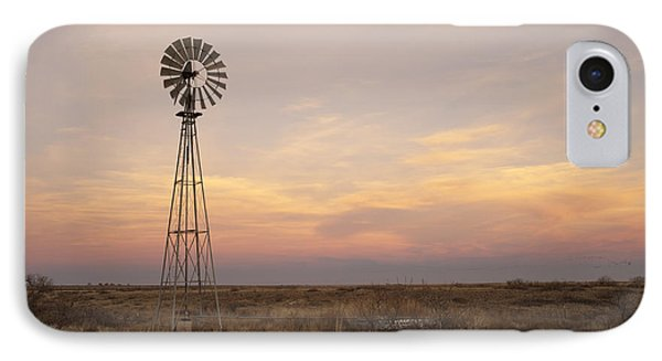 Rural Scenes iPhone 7 Case - Sunset On The Texas Plains by Melany Sarafis