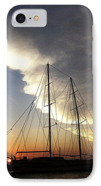 Sunset On The Turkish Gulet IPhone Case