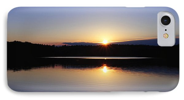 Sunset On Walden Pond IPhone Case by John Greim