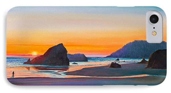 Sunset - Oregon Coast Phone Case by Paul Krapf